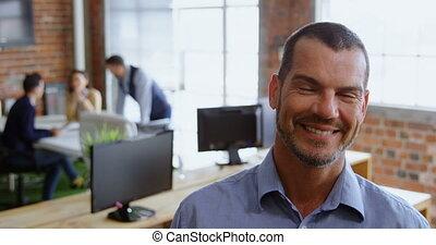 regarder, mâle, appareil photo, cadre, 4k, bureau