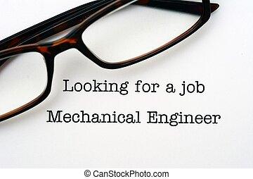 regarder, métier, ingénieur, mécanique