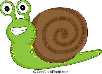 regarder, mignon, escargot