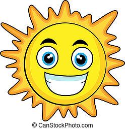 regarder, mignon, soleil