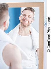 regarder, miroir
