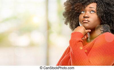 regarder, pensée, merveille, haut, doute, exprimer