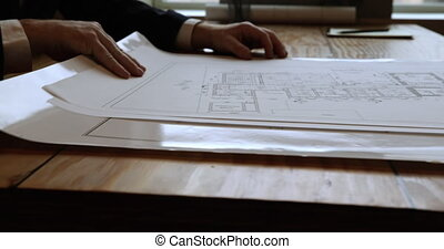 regarder, plans, architectes
