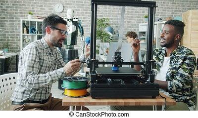 regarder, plastique, conversation, modelage, 3d, imprimante,...