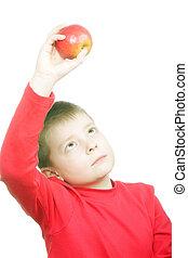 regarder, pomme