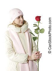 regarder, rose