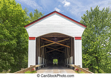 regarder travers, jackson, pont couvert