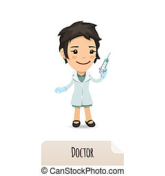 regarder, vaccin, docteur