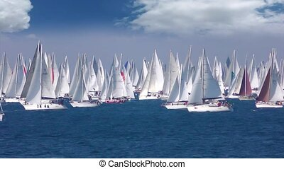 Regatta Barcolana, Sailing boat race in the Gulf of Trieste, Italy