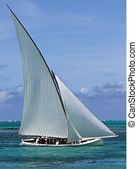 Regatta boat - Boat in regatta competition in Mauritius