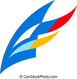 Regatta sign - Branding identity corporate logo isolated on...