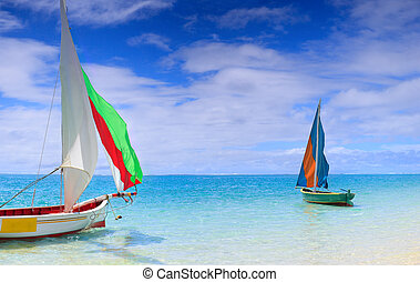 Regatta - Preparation for start of a sailing regatta in...