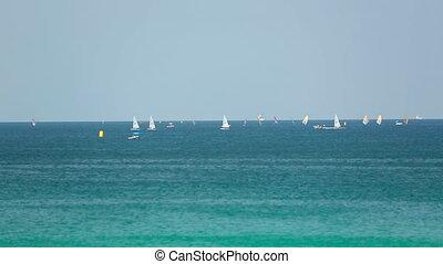 Regatta - Sailors competitions near Phuket island, Thailand