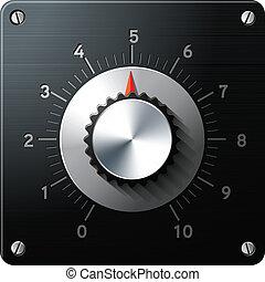 regelaar, controle, interface, analoog