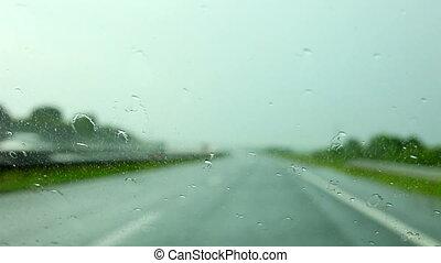 Regen, Auto, Tropfen, fahren,  g