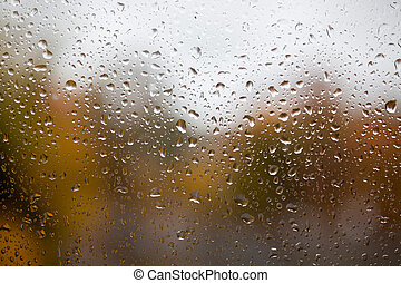 fenster tropfen regen fenster tropfen hintergrund regen blurry. Black Bedroom Furniture Sets. Home Design Ideas