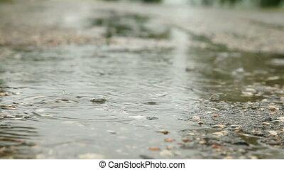 regen, gleichfalls, fallender