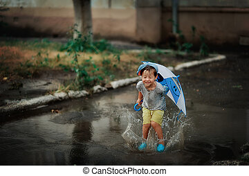 regen, kind