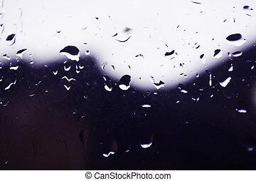 regen, op, de, venster