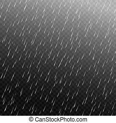 regen, vector, vrijstaand