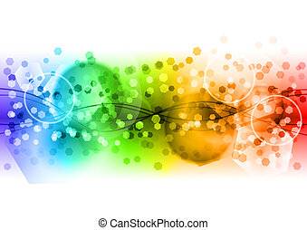 regenbogen, abstrakt