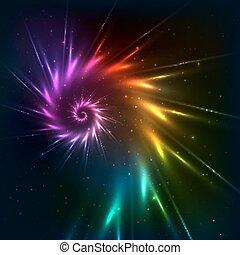regenbogen, abstrakt, spirale, vektor, hintergrund, fractal