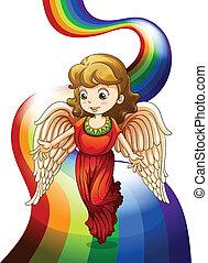 regenbogen, engelchen, oben
