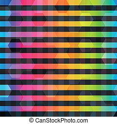 regenbogen, farbe, linien, seamless, muster