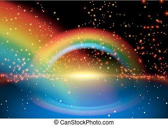 regenbogen, glühen