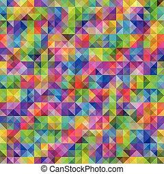 regenbogen, muster, seamless, mehrfarbig, lichtdurchlässig, geometrisch, dreiecke