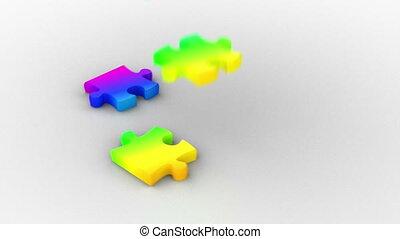 regenbogen, puzzel, loesung