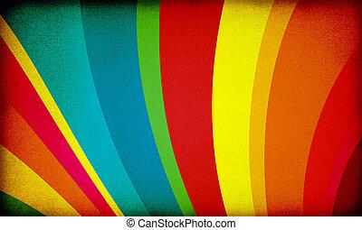 regenbogen, retro, hintergrund
