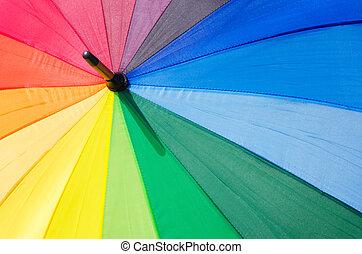 regenbogen, schirm, hintergrund