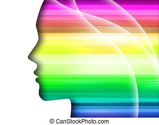 regenbogen, silhouette