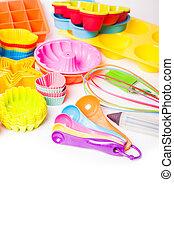 regenbogen, silikon, konfekt, untersils