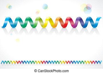 regenbogen, spirale, kabel