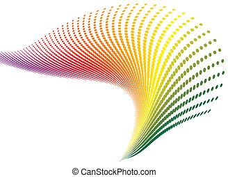 regenbogen, spirale