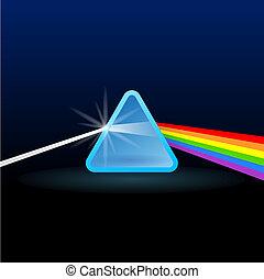 regenbogen, trennung, licht