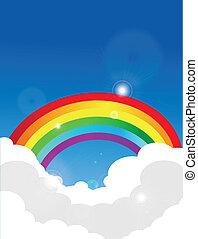 regenbogen, vektor