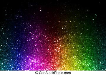 regenbogen, von, bunte, lichter