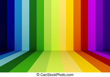 regenboog, abstracct, achtergrond, 3d