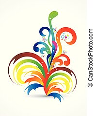 regenboog, abstract, creatief, artistiek, floral, smoke.eps