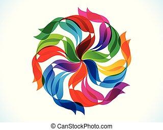 regenboog, abstract, creatief, ontploffen, artistiek, floral