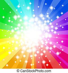 regenboog, abstract, ster, achtergrond kleurde