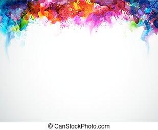 regenboog, abstractie
