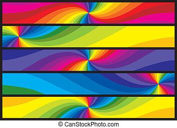 regenboog, banieren, web