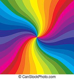regenboog, barsten
