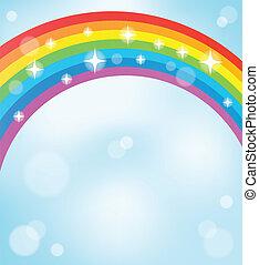 regenboog, beeld, 5, thema
