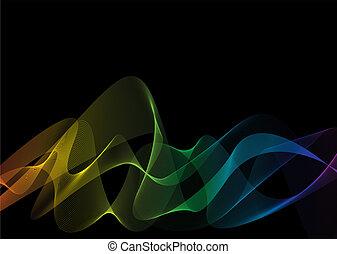 regenboog, black , weven