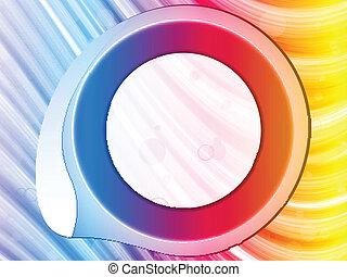 regenboog, cirkel, grens, swirls., vonkeelt